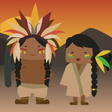 Native american indians Royalty Free Stock Photography