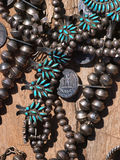 Native american jewelry. Detail of an assortment of  Native American jewelry Stock Image