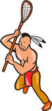 Native American Lacrosse Player Crosse Stick Stock Photos