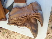 Native American leather boots. Royalty Free Stock Photo