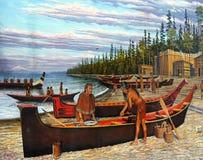 Native American Life, Wall Murals stock photo