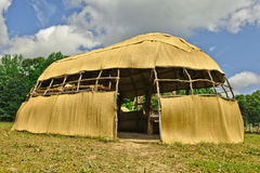 Native American Long House stock photography