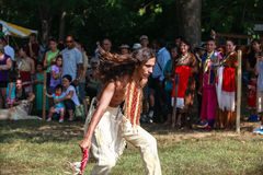 Native American Male Indian Tribal Dancing Royalty Free Stock Photo