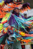 Native American man dancing Royalty Free Stock Photography