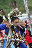 Native American man in full costume. Royalty Free Stock Photo