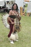 Native American Man Perry Joe Gabbard posing at Miami All Nations Gathering at Parke County Royalty Free Stock Images