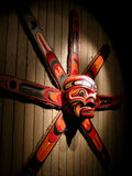 Native American mask. Colored mask from North American indians Royalty Free Stock Image