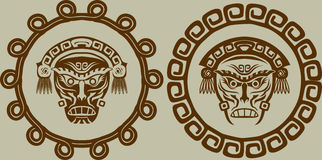Native American masks Stock Images