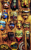 Native American masks. West coast, Alaska royalty free stock images