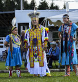 Native American Micmac Family Dancers Smiling Stock Photography