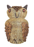 Native American owl basket. Royalty Free Stock Image