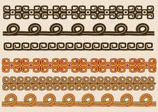 Native American pattern border set Royalty Free Stock Image