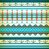 Native american pattern.  Vector Vintage american Stock Photo