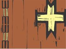 Native American Patterning Cross Stock Image