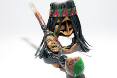 Native american and peace rod-3 Stock Photos