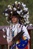 Native American performer Stock Photo