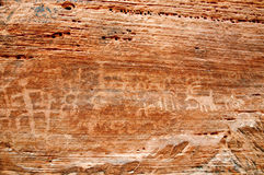 Native American petroglyph on canyon wall Stock Photo