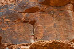 Native American petroglyph on canyon wall Royalty Free Stock Photo