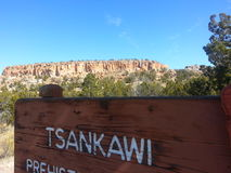 Native American petroglyph park  Tsankawe New Mexico. Tsankawe National Park near Royalty Free Stock Photography