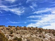 Native American petroglyph park  Tsankawe New Mexico. Tsankawe National Park near Stock Image