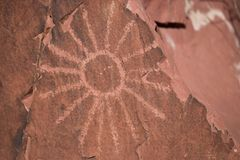 Native American Petroglyph Stock Photography