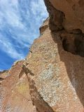 Native American petroglyph Tsankawe New Mexico Stock Photo