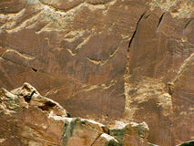 Native American petroglyphs Royalty Free Stock Images