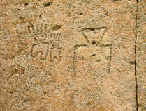 Native American Petroglyphs Royalty Free Stock Photography
