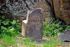 Native American petroglyphs Stock Photos