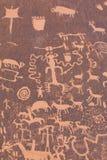 Native American Petroglyphs. Ancient Native American Petroglyphs in Southwest USA Royalty Free Stock Photos