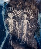 Native American petroglyphsin Washington state royalty free stock photo