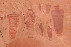 Native American Pictographs. Horseshoe Canyon Stock Images