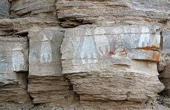 Native American Pictographs Stock Photography