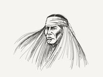 Native american portrait Royalty Free Stock Photography