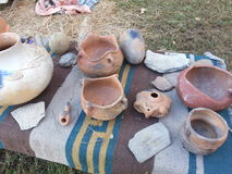 Native American pottery Stock Photo