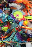 Native American at Pow Wow. Colorful costume is in order for Native American young man dancing at Pow Wow in Nashville, TN stock photography