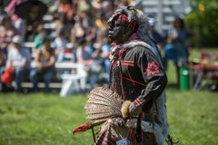Native American Pow Wow. This photograph is of an man dancing at a Pow Wow in Inwood Park, Manhattan, May 20, 2012 Stock Images