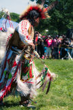 Native American Pow Wow. This photograph is of an man dancing at a Pow Wow in Inwood Park, Manhattan, May 20, 2012 Royalty Free Stock Image