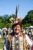 Native American Pow Wow. This photograph is of an man dancing at a Pow Wow in Inwood Park, Manhattan, New York, Sunday, May 20th, 2012 Stock Photography