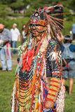 Native American Pow Wow. This photograph is of a man at a Pow Wow in Inwood Park, Manhattan, May 20, 2012 Stock Photo