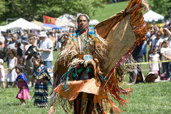Native American Pow Wow. This photograph is of a woman dancing at a Pow Wow in Inwood Park, Manhattan, May 20, 2012 Stock Images