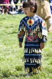 Native American Pow Wow. This photograph is of a young girl dancing at a Pow Wow in Inwood Park, Manhattan, May 20, 2012 Stock Photos