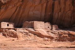 Native American ruins in Canyon de Chelly. One of several native american archaeological sites in Canyon de Chelly on the Navajo reservation in Arizona Royalty Free Stock Photos
