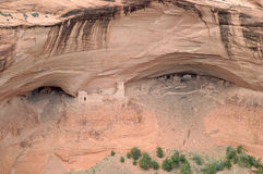 Native American ruins in Canyon de Chelly. One of several native american archaeological sites in Canyon de Chelly on the Navajo reservation in Arizona Stock Photos