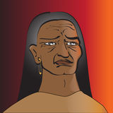 Native American. With sad eyes Royalty Free Stock Photo