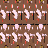 Native American Seamless Pattern Royalty Free Stock Photos