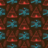 Native American Seamless Pattern Stock Photo