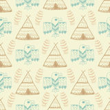 Native American Seamless Pattern Stock Photography