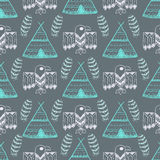 Native American Seamless Pattern Royalty Free Stock Image