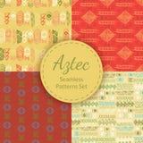 Native American Seamless Patterns Set Stock Image
